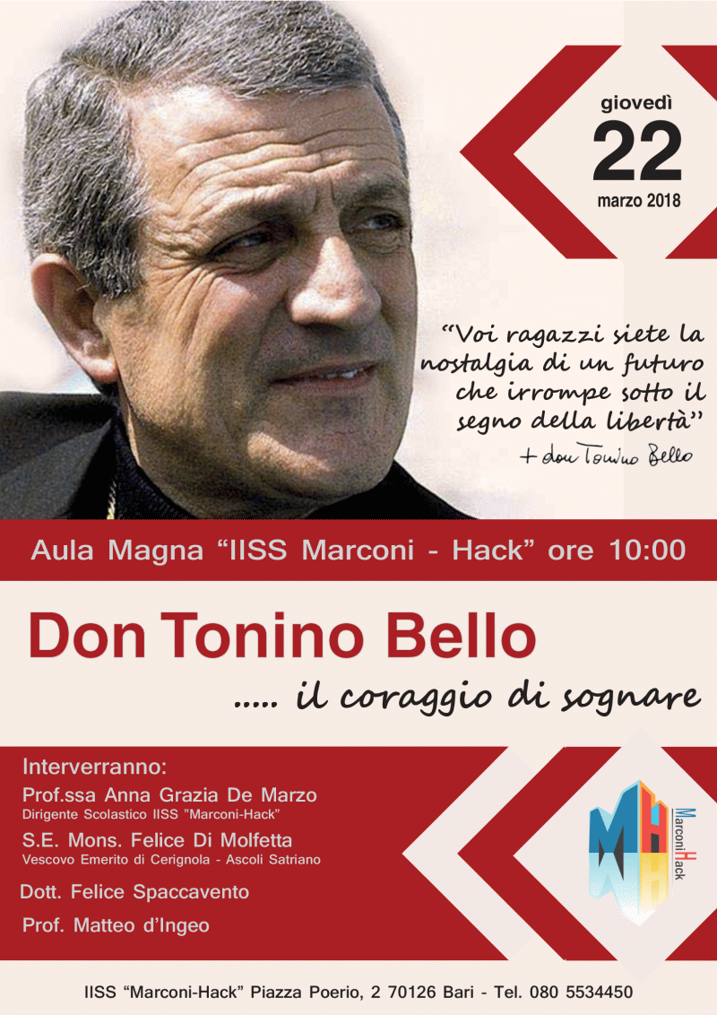 Locandina evento Don Tonino Bello